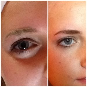 eyebrow waxing before and after